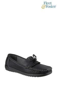 Fleet & Foster Black Elba Loafer Shoes