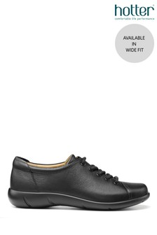 Hotter Black Dew Wide Fit Lace-Up Trainers