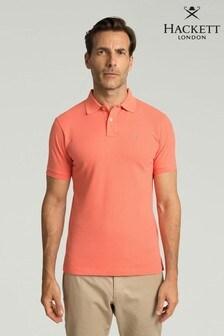 Hackett Orange Slim Fit Logo Polo Shirt