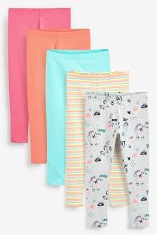 Brights 5 Pack Leggings (3-16yrs)