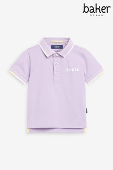 Baker by Ted Baker Younger Boys Lilac Polo