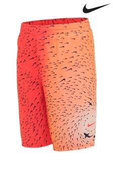 Nike Red Shark Print 8 Inch Swim Shorts