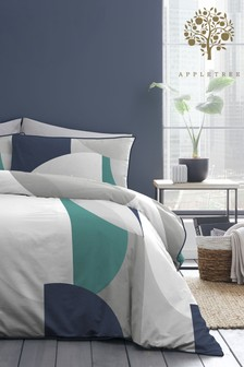 Appletree Style Finn Cotton Duvet Cover And Pillowcase Set