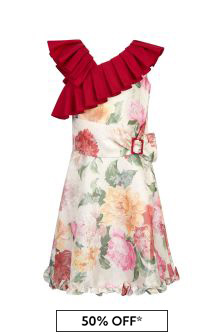 Jessie And James Girls Multicoloured Frilly Annie Dress