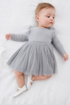 Grey Tutu Dress (0mths-2yrs)