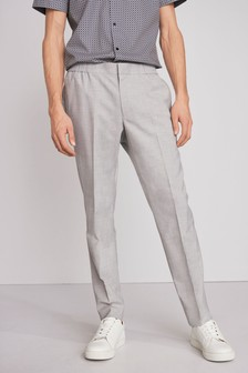 Grey Slim Fit Jogger Trousers