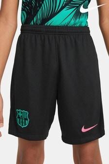 Nike Black FC Barcelona Away Kids Football Shorts