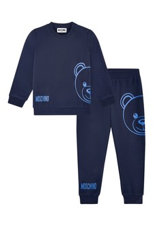 Baby Boys Navy Cotton Unisex Tracksuit