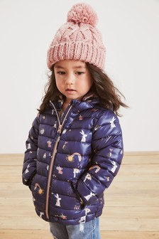 Blue Shower Resistant Character Padded Jacket (3mths-10yrs)