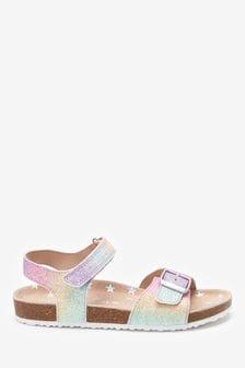 Pastel Glitter Standard Fit (F) Corkbed Sandals