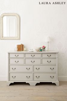 Dove Grey Clifton Dove Grey 6+4 Drawer Chest by Laura Ashley