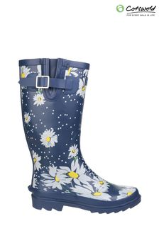 Cotswold Blue Burghley Waterproof Pull-On Wellington Boots