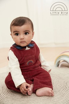 Little Bird Cord Dungarees and Bodysuit Set