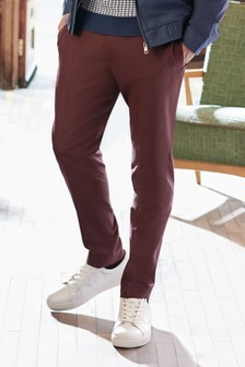 Red Slim Fit Formal Joggers