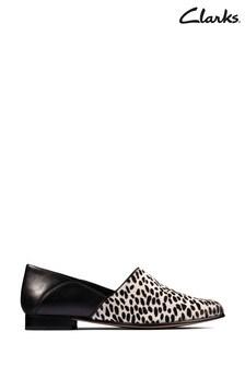Clarks Black/White Combi Pure Tone Shoes