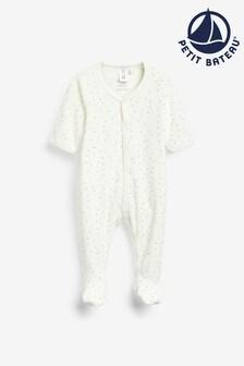 Petit Bateau White Sleepsuit