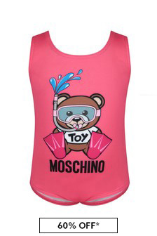 Moschino Baby Girls Pink Swimsuit