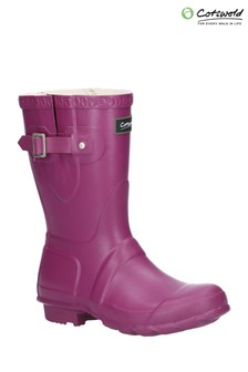 Cotswold Pink Windsor Short Wellington Boots