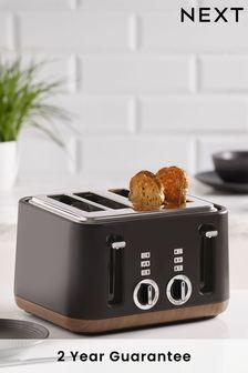 Wood Finish Detail 4 Slot Toaster