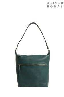 Oliver Bonas Remi Teal Green Relaxed Tote Bag