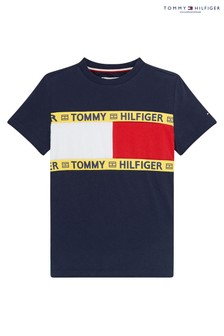 Tommy Hilfiger Blue Sustainable Flag T-Shirt