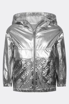 Moncler Enfant Girls Silver Abbey Jacket