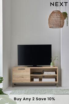 Light Oak Effect Bronx Compact TV Stand