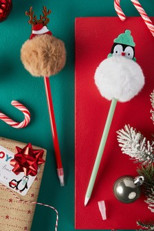 Set of 2 Christmas Pens