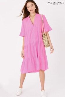 Accessorize Pink Trapeze Dress