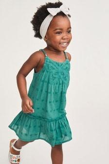 Green Butterfly Crochet Dress (3mths-7yrs)