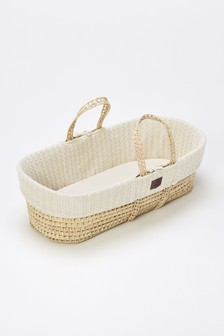 Linen The Little Green Sheep Moses Basket