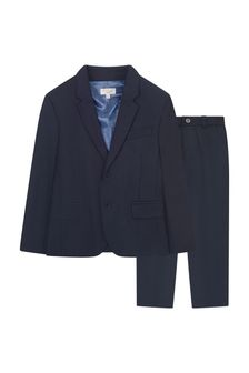 Boys Navy Woven Suit