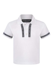 Baby Boys Ivory Cotton Polo Top