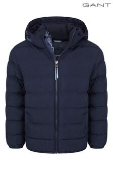 GANT Blue Lock-Up Stripe Padded Jacket