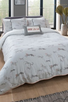 Yvonne Ellen Mono Cheetah Duvet Cover And Pillowcase Set