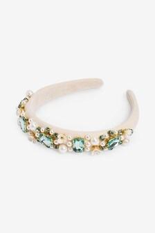 Cream Jewel Headband