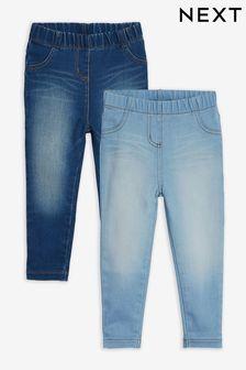 Denim Mid Blue 2 Pack 2 Pack Jeggings (3mths-7yrs)