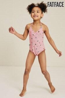 FatFace Pink Conversational Stripe Swimsuit