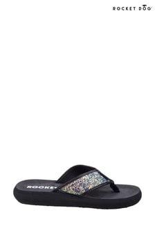 Rocket Dog Black Spotlight Solar Power Slip-On Sandals