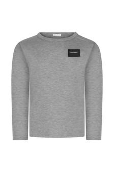Baby Boys Grey Jersey Top