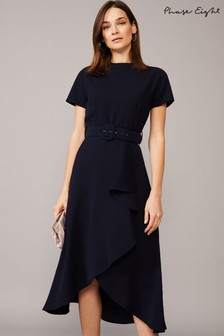 Phase Eight Blue Mylee Belted Dress