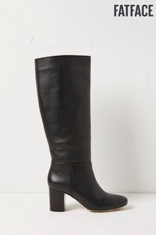 FatFace Black Pennymoor Knee High Boots