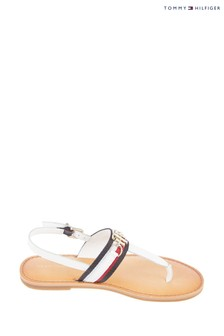 Tommy Hilfiger Natural Shimmery Ribbon Flat Sandals