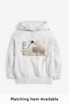 Grey Unicorn Hoody (3-16yrs)