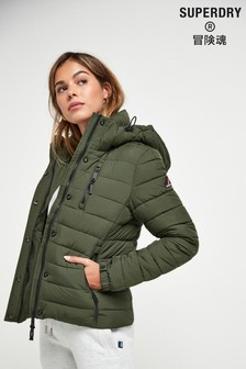 Superdry Khaki Faux Fur Fuji Jacket