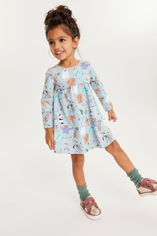 Blue Character Jersey Dress (3mths-7yrs)