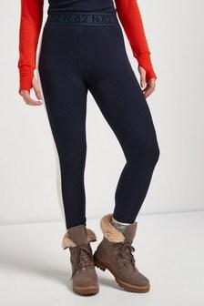 Navy Lightweight Ski Leggings