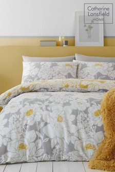 Catherine Lansfield Saskia Floral Duvet Cover and Pillowcase Set