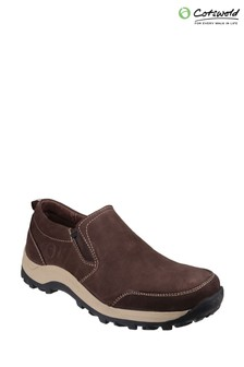 Cotswold Brown Sheepscombe Slip-On Shoes
