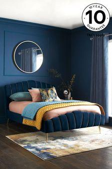 Opulent Velvet Dark Navy Deco Bed